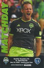 2015 Seattle Sounders vs. Sporting KC MLS Soccer Program - Chad Barrett