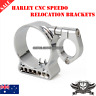 CRM CNC Billet speedo relocation Bracket Harley Sportster XL 883 1200 C N L R 48