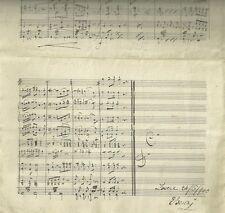Lovere Bergamo Spartito Manoscritto Autografo del M° Enrico Benzi - Marcia 1900