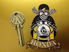 HONDA CAFE RACER Pudding basin MOTORCYCLE BIKE STICKER