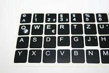10 Stück Deutsche Tastaturaufkleber für Dell und IBM  Notebooks/ Laptops Schwarz