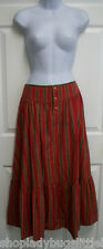 RALPH LAUREN COUNTRY SOUTHWESTERN INDIAN RED TIERED BOHO PRAIRIE PEASANT SKIRT 8