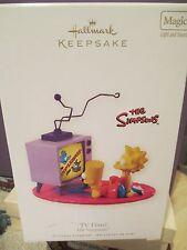 ~Hallmark The Simpsons TV Time Bart & Lisa Christmas MAGIC Ornament NIB 2008~