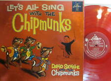 ► Chipmunks - Let's All Sing with The Chipmunks (Liberty 3132) (Mono) red vinyl
