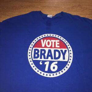 Vote Tom Brady New England Patriots T Shirt 2016 NFL Football NWE Mens 2XL
