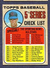1968 Topps #356  5th Series Checklist (Unmarked) - Nm+