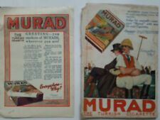 Lot 2 Murad Turkish cigarette vintage color ads as is