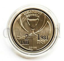 GEORGIA 2 LARI 2006 DINAMO TBILISI-CHAMPIONSLEAGUE 25 YEARS PROOF (#717)