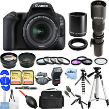 Canon EOS 200D / SL2 DSLR Camera With 18-55mm & 500mm/1000mm Telephoto Lens KIT