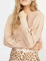 Free People Womens OB967817 Top Relaxed Shell Beige Size XS