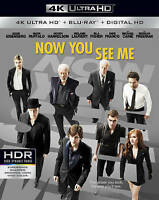 Now You See Me (4K Ultra HD Blu-ray, 2016) NEW Morgan Freeman Woody Harrelson