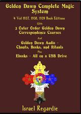Golden Dawn Complete Magic System on USB Books, Magick, Audio, Regardie, Crowley