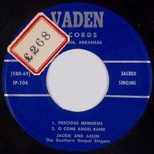 JACKIE AND ARLEN: Southern Gospel Singers VADEN Hillbilly Sacred 45 NM-