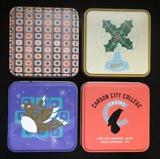 Fossil Watch Tins Empty Lot of 4 Holly Dove Carson City Snowflake Retro