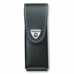 VICTORINOX SWISS ARMY KNIFE LOCK BLADE LEATHER POUCH BLACK 4-6 LAYER 05623