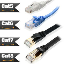 6ft 10ft 25ft 50ft 100ft Ethernet Network Lan Cable Cat 8 Cat6 Cat7 1000Mbps Lot