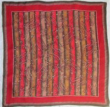 Magnífico bufanda 100% seda EN BUEN ESTADO vintage bufanda