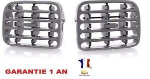 2 Grilles aération ventilation centrale tableau de bord pour Renault Clio 2 II