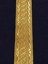 Gold Metallic Lace 1 Inch Width Sold By The Yard