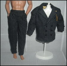 OUTFIT BARBIE KEN THE ADDAMS FAMILY GOMEZ DOLL  PINSTRIPED JACKET  POCKET PANTS