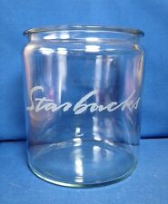 STARBUCKS ETCHED CLEAR GLASS JAR, APOTHECARY, COFFEE, CANDY, TREAT, COOKIE