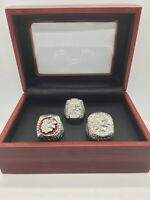 3 Pcs Chicago Blackhawks Ring Jonathan Toews Hockey Championship Ring Box Set