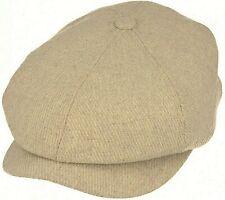 Peaky Blinders Cream Hat Newsboy Gatsby Cap Flat Baker Boy Wool Mix Bakerboy Men