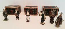 """Duncan Royale Miniature Lot The Magi Lord Of Misrule Wassall Russian Santa 2.5"""""""
