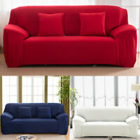 L-Shaped Stretch Sofa Cover Couch Cover Elastic Slipcover Protector 1-4 Seater