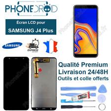 Écran complet LCD + Tactile Samsung J4 Plus Noir Qualité OLED + Outils, stock FR