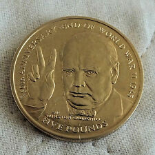 ISLE OF MAN 1995 CHURCHILL / END OF WW2 VIRENIUM £5