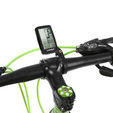 USB Wireless LCD Bike Computer Backlight MTB Bicycle Cycling Speedometer w/Mount