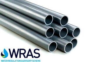 PVC Pressure Pipe Solvent Weld 2 x 1.2m length Metric 20 25 32 40 50 63 75mm OD