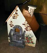 Birdhouse ~ Decorative Handcrafted Wood & Tin ~ Brand New! *