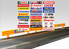 30 Self Adhesive Adverts for Scalextric Armco Crash Barriers