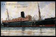"P.&O. SS""MONGOLIA"".ARTIST SIGNED. STEAMER.TO INDIA-CHINA-AUSTRALIA."
