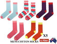 5 Pairs Mens Crew Work Dress Wedding Socks Cotton Business Socks Pack Size40-46