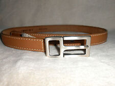 TOMMY BAHAMA BROWN  BELT, BRUSHED SILVER BUCKLE, SIZE S, MADE IN SPAIN, NWT!