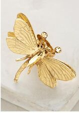Nwt Anthropologie Rare Dragonfly Ring One Size