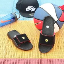 21d8e5ec7ee017 Nike Jordan Hydro 7 Slide UK 11 EU46 Black Varsity Red Dandelion RRP£100.00