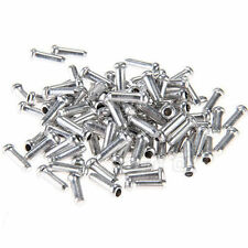 100Pcs/Set ALUMINUM BIKE BICYCLE SHIFTER BRAKE CABLE TIPS CAPS ENDS CRIMPS