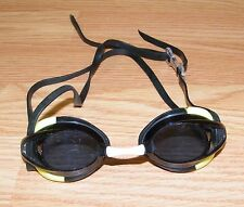 Genuine Nike Black & Green Junior Ultralight Adjustable Swim Goggles **READ**