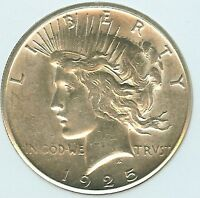 1925-S SILVER PEACE DOLLAR  NICE UNCIRCULATED