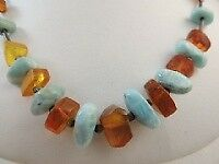 Larimar, Amber & Sterling Southwest Necklace