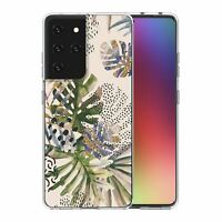 For Samsung Galaxy S21 Ultra Silicone Case Nature Leafs Art Print - S6922