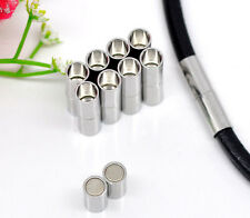10 Sets POP Silver Tone Barrel Magnetic Clasps Findings 20x5mm
