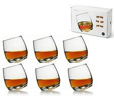 Sagaform conjunto de 6 Vidrio Redondo base curvada BARRA OSCILANTE Whisky Gafas para hombre Regalo