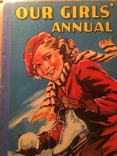 Our Girls Annual 1958 Renwick Of Otley Acceptable Condition