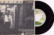 """SPARKS NEVER TURN YOUR BACK ON MOTHER EARTH UNIQUE COVER RECORD YUGOSLAVIA 7"""" PS"""