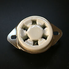 100Pcs 6Pin Ceramic Vacuum Tube Sockets Top Mount Valve US Style For 310A 42 UX6